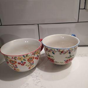 Anthropologie floral mugs